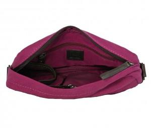BRYHT Dart handlebar bag in Magenta Canvas - Lining