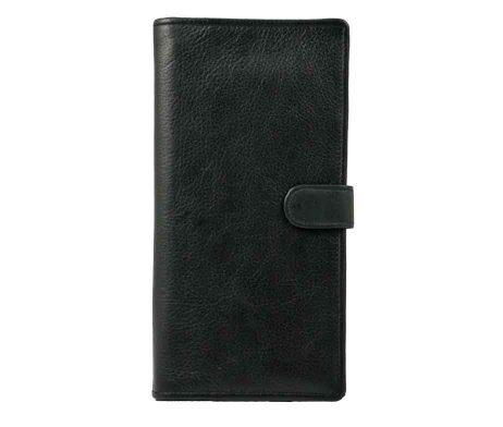 Easton Travel Wallet Black Leather
