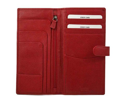 Easton Travel Wallet Red Leather