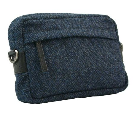 BRYHT Dart Handlebar Bag in Harris Tweed - Front
