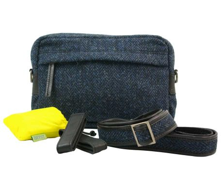 BRYHT Dart Handlebar Bag in Harris Tweed with Raincover