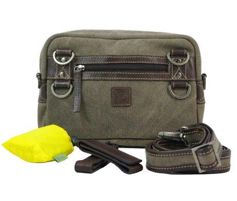 BRYHT Dart Handlebar Bag in Khaki Canvas with Raincover