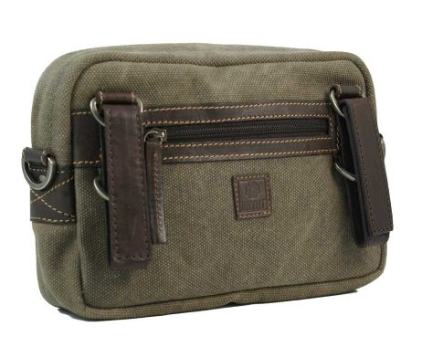 BRYHT Dart Handlebar Bag in Khaki Canvas Back