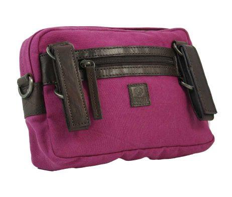BRYHT Dart Handlebar Bag in Magenta Canvas Back