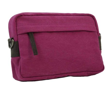 BRYHT Dart Handlebar Bag in Magenta Canvas - Front