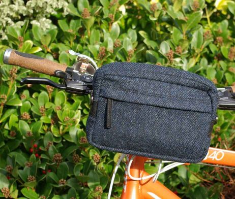 BRYHT Dart Handlebar Bag Harris Tweed