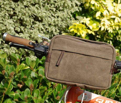 BRYHT Dart Handlebar Bag Khaki Canvas