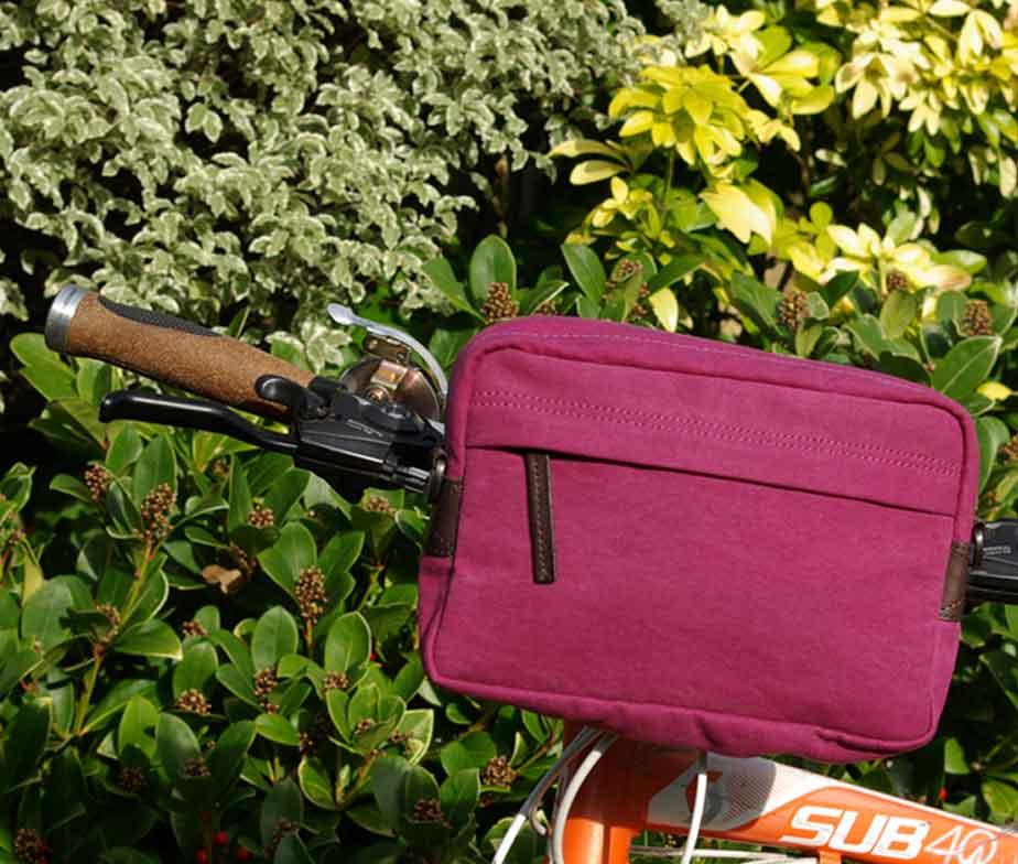 BRYHT Dart Handlebar Bag Pink Canvas
